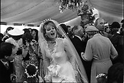 Jane Gilmour and Katya Grenfell at Gilmour Wedding 17/6/1986 ONE TIME USE ONLY - DO NOT ARCHIVE  © Copyright Photograph by Dafydd Jones 66 Stockwell Park Rd. London SW9 0DA Tel 020 7733 0108 www.dafjones.com