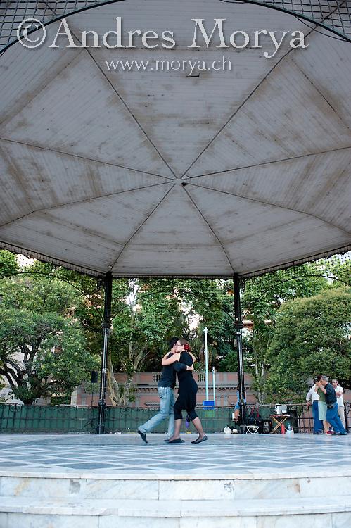 Tango Dancers in the Outdoor Milonga La Glorieta, Buenos Aires, Argentina Image by Andres Morya