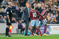 Alexandre Song of West Ham, making his club debut, is brought on for Mauro Zarate - Photo mandatory by-line: Rogan Thomson/JMP - 07966 386802 - 15/09/2014 - SPORT - FOOTBALL - KC Stadium, Hull - Hull City v West Ham United - Barclays Premier League.