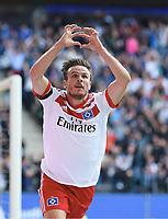 1:0 Tor Jubel Torschuetze Nicolai Mueller (HSV)<br /> <br /> Hamburg, 19.08.2017, Fussball Bundesliga, Hamburger SV - FC Augsburg 1:0<br /> <br /> Norway only