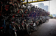 Fietsenstalling bij treinstation Hollands Spoor, Den Haag - Bicycle parking near trainstation Hollands Spoor, The Hague.