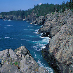 "Cutler, ME. Hiking the ""Bold Coast"" - Bay of Fundy.  View from the Coastal Trail."