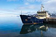 M/S Freya<br /> Tourist Boat<br /> Longyearbyen<br /> Svalbard<br /> Norway<br /> Arctic Ocean