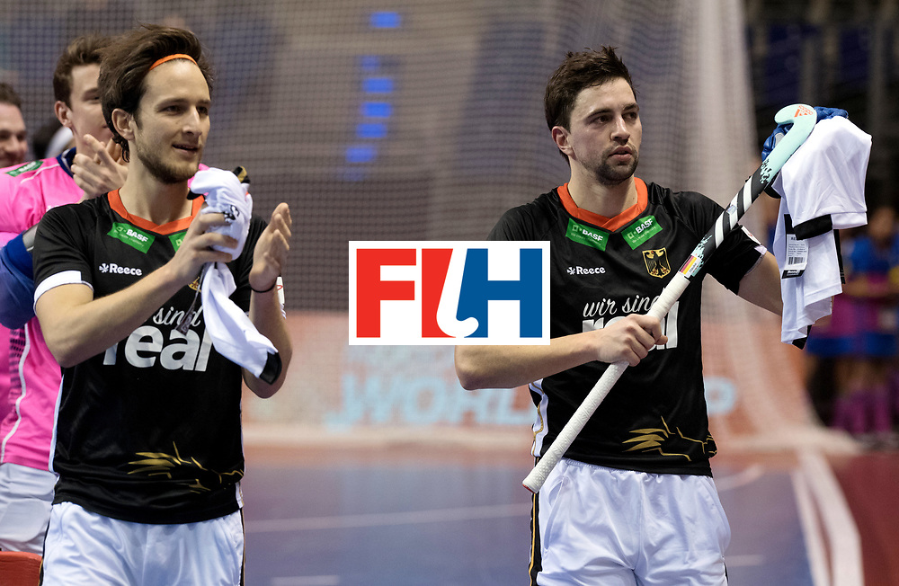 BERLIN - Indoor Hockey World Cup<br /> Men: Poland - Germany<br /> foto: Tobias Hauke.<br /> WORLDSPORTPICS COPYRIGHT FRANK UIJLENBROEK