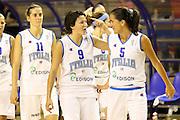 Taranto 07-06-2011<br /> Qualifying Tournament Eurobasket Women 2011<br /> Italia-Belgio<br /> Nella foto Giorgia Sottana e Mariachiara Franchini<br /> Foto di Ciamillo-Castoria