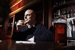 Luke Blackburn drinks bourbon at Molly Malone's in the Highlands for Men's Journal, Thursday, Feb. 11, 2010 at Molly Malone's in Louisville.
