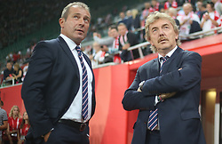 September 11, 2018 - Warsaw, Poland - Marek Kozminski and Zbigniew Boniek of Poland look during the international friendly match between Poland and Republic of Ireland at the Stadion Miejski on September 11, 2018 in Wroclaw, Poland. (Credit Image: © Foto Olimpik/NurPhoto/ZUMA Press)