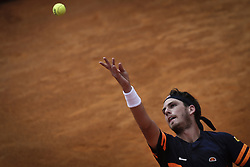 May 3, 2018 - Estoril, Portugal - Cameron Norrie of Great Britain serves a ball to Roberto Carballes Baena os Spain during the Millennium Estoril Open ATP 250 tennis tournament, at the Clube de Tenis do Estoril in Estoril, Portugal on May 3, 2018. (Credit Image: © Carlos Costa/NurPhoto via ZUMA Press)