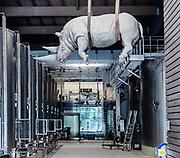 iTALY, ISEO LAKE, Franciacorta, Ca' del Bosco Vineyard. Stefano Bombardieri sculpture
