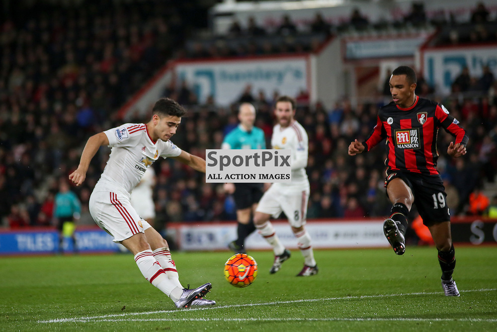 Andreas Pereira of Manchester United During Bournemouth vs Manchester United on Saturday the 12th December 2015.