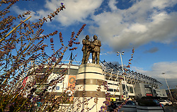 The statue of Brian Clough and Peter Taylor outside Pride Park, home of Derby County - Mandatory by-line: Robbie Stephenson/JMP - 08/09/2017 - FOOTBALL - Pride Park Stadium - Derby, England - Derby County v Hull City - Sky Bet Championship