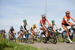 Christine Majerus (Boels Dolmans) on the front of the peloton at the 111 km Stage 4 of the Boels Ladies Tour 2016 on 2nd September 2016 in 's-Hertogenbosch, Netherlands. (Photo by Sean Robinson/Velofocus).