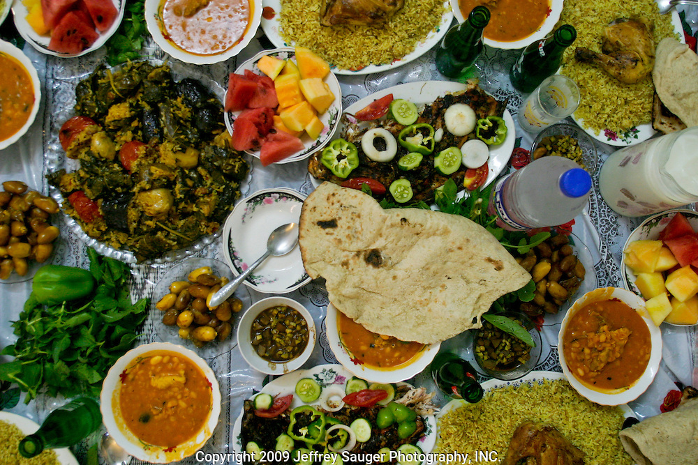 Typical Iraqi feast in Nasiriyah, Iraq.