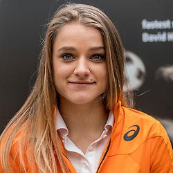 22-03-2017 NED: Teampresentatie EK Atletiek Indoor, Arnhem<br /> Lisanne de Witte tijdens de teampresentatie van het atletiek EK indoor op Papendal.