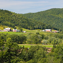 View of the Connecticut River Valley in Clarksville, New Hampshire.  Amey Farm in Pittsburg, New Hampshire.  View from Washburn Property.