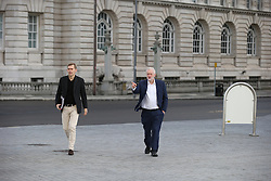 © Licensed to London News Pictures . 25/09/2016 . Liverpool , UK . Labour Party Leader JEREMY CORBYN arriving for The Marr Show during a round of Sunday morning political interviews from the Docks in Liverpool on the first day of the Labour Party Conference . Photo credit : Joel Goodman/LNP