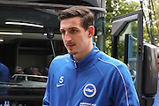 Brighton central defender, Lewis Dunk (5)  during the Sky Bet Championship play-off first leg match between Sheffield Wednesday and Brighton and Hove Albion at Hillsborough, Sheffield, England on 13 May 2016. Photo by Simon Davies.