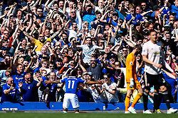 Theo Walcott of Everton celebrates with fans after scoring a goal to make it 4-0 - Mandatory by-line: Robbie Stephenson/JMP - 21/04/2019 - FOOTBALL - Goodison Park - Liverpool, England - Everton v Manchester United - Premier League