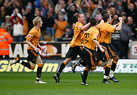 Photo: Steve Bond/Sportsbeat Images.<br /> Wolverhampton Wanderers v Bristol City. Coca Cola Championship. 03/11/2007. Jay Bothroyd celebrates