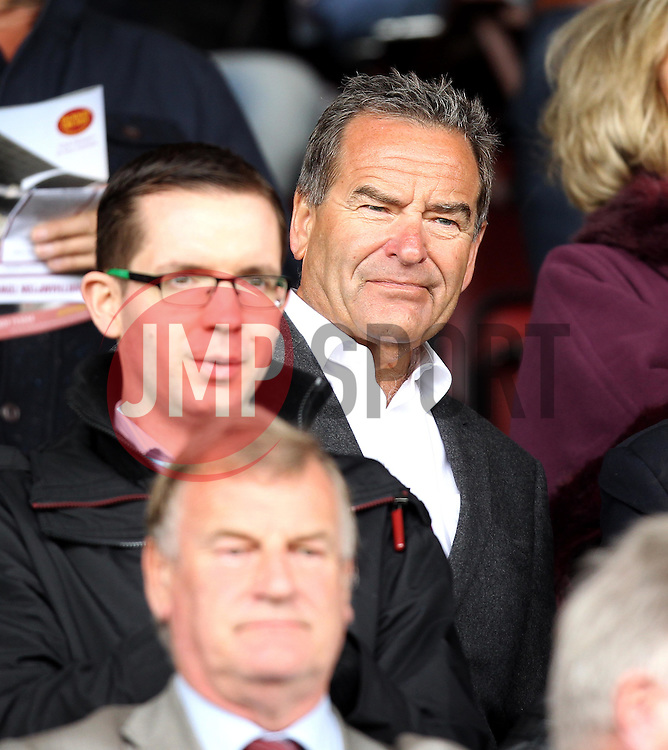 TV Presenter and Honorary President of Hartlepool United Jeff Stelling - Mandatory byline: Robbie Stephenson/JMP - 07966 386802 - 10/10/2015 - FOOTBALL - Sixfields Stadium - Northampton, England - Northampton Town v Hartlepool - Sky Bet League Two