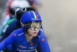 March 1, 2019 - Pruszkow, Poland - Letizia Paternoster (ITA) omnium tempo race on day three of the UCI Track Cycling World Championships held in the BGZ BNP Paribas Velodrome Arena on March 01, 2019 in Pruszkow, Poland. (Credit Image: © Foto Olimpik/NurPhoto via ZUMA Press)