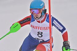 GALLAGHER Kelly Guide: SMITH Gary, B3, GBR at 2018 World Para Alpine Skiing World Cup slalom, Veysonnaz, Switzerland