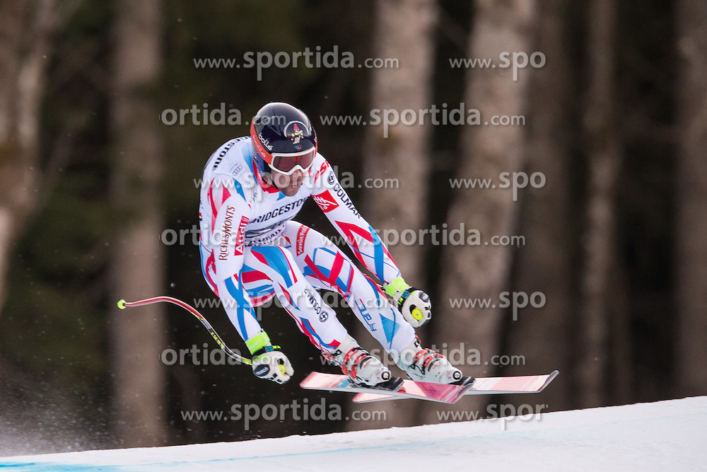 30.01.2016, Kandahar, Garmisch Partenkirchen, GER, FIS Weltcup Ski Alpin, Abfahrt, Herren, im Bild Maxence Muzaton (FRA) // Maxence Muzaton of France competes in his run for the men's Downhill of Garmisch FIS Ski Alpine World Cup at the Kandahar course in Garmisch Partenkirchen, Germany on 2016/01/30. EXPA Pictures © 2016, PhotoCredit: EXPA/ Johann Groder