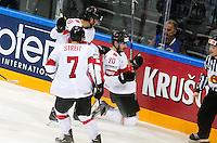 Joie Denis Hollenstein - 03.05.2015 - France / Suisse - Championnat du Monde de Hockey sur Glace -Prague <br />Photo : Xavier Laine / Icon Sport