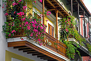 Colonial balconies at Cruz Street