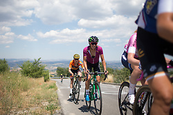 Katarzyna Niewiadoma (POL) of WM3 Pro Cycling Team digs deep up on the climb to Montemiletto during Stage 7 of the Giro Rosa - a 141.9 km road race, between Isernia and Baronissi on July 6, 2017, in Isernia, Italy. (Photo by Balint Hamvas/Velofocus.com)