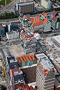 Nederland, Amsterdam, Zaandam, 25-05-2010. Hotel met gevel opgebouwd uit karakteristieke (en klassieke) Zaanse gevels (architect Molenaar & Van Winden). Deel van hotelketen Inntel Hotels. Het hotel maakt deel uit van Inverdan, nieuw centrum Zaanstad..Hotel facade consists of typical (and classical) Zaanse facades. Part of chain Inntel Hotels. The hotel is part of Inverdan, Zaanstad new center..luchtfoto (toeslag), aerial photo (additional fee required).foto/photo Siebe Swart