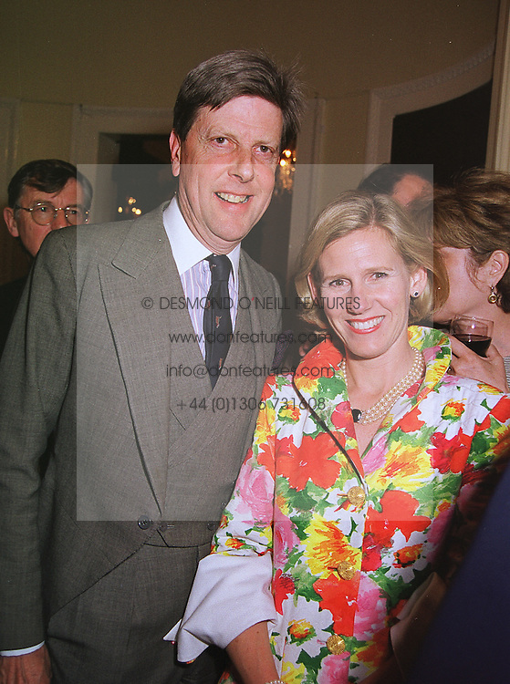 SIR TOBIAS &amp; LADY CLARKE  at a party in London on 17th June 1999.<br /> MTK 78