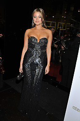 HOLLY VALANCE at a party hosted by Roberto Cavalli to celebrate his new Boutique's opening at 22 Sloane Street, London followed by a party at Battersea Power Station, London SW8 on 17th September 2011.