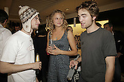 Tom Sturridge, Nina Schubert and Rob Pattinson, PPQ of Mayfair shop launch. 47 Conduit St. 18 September 2006. ONE TIME USE ONLY - DO NOT ARCHIVE  © Copyright Photograph by Dafydd Jones 66 Stockwell Park Rd. London SW9 0DA Tel 020 7733 0108 www.dafjones.com