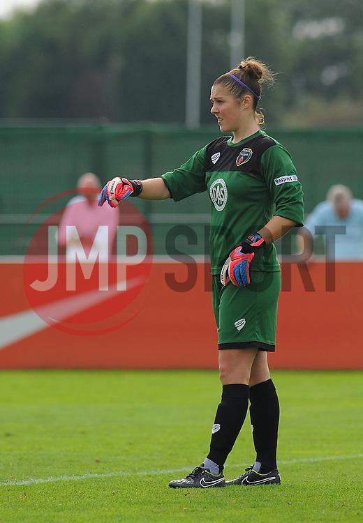 Bristol Academy Womens' Mary Earps in action. - Photo mandatory by-line: Nizaam Jones- Mobile: 07583 387221 - 28/09/2014 - SPORT - Women's Football - Bristol - SGS Wise Campus - BAWFC v Man City Ladies - sport