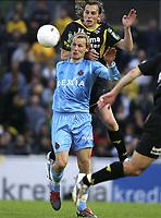 LIER 10/05/2005  <br /> SPORT - FOOTBALL - VOETBAL / <br /> BEKER VAN BELGIE - COUPE DE BELGIQUE /<br /> SK LIERSE - CLUB BRUGGE /<br /> SK LIERSE - FC BRUGES /<br /> JONAS DE ROECK - RUNE LANGE <br /> PICTURE BY  JIMMY BOLCINA - PHILIPPE CROCHET Digitalsport
