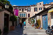 Hipster shopping and yoga in Palma de Mallorca, Balearic Islands, Spain