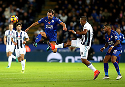 Daniel Drinkwater of Leicester City beats Jose Salomon Rondon of West Bromwich Albion to the ball - Mandatory by-line: Robbie Stephenson/JMP - 06/11/2016 - FOOTBALL - King Power Stadium - Leicester, England - Leicester City v West Bromwich Albion - Premier League