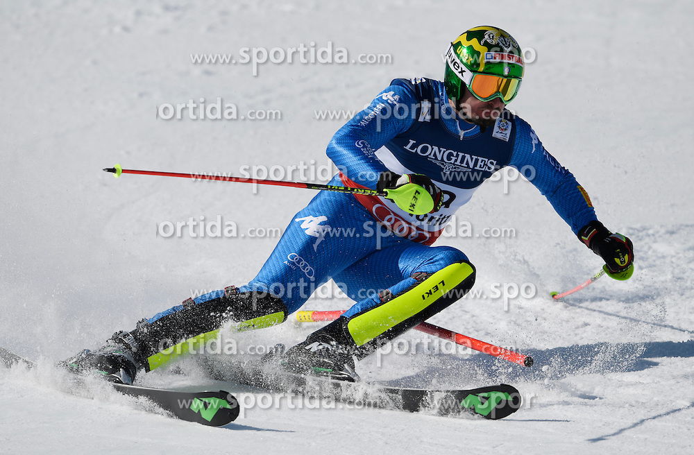 13.02.2017, St. Moritz, SUI, FIS Weltmeisterschaften Ski Alpin, St. Moritz 2017, alpine Kombination, Herren, Slalom, im Bild Dominik Paris (ITA) // Dominik Paris of Italy in action during his run of Slalom competition for the men's Alpine combination of the FIS Ski World Championships 2017. St. Moritz, Switzerland on 2017/02/13. EXPA Pictures &copy; 2017, PhotoCredit: EXPA/ Sammy Minkoff<br /> <br /> *****ATTENTION - OUT of GER*****