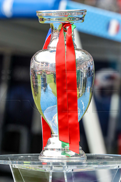 The Euro Cup that Portugal won to France in the final at Saint Denis stadium in France.