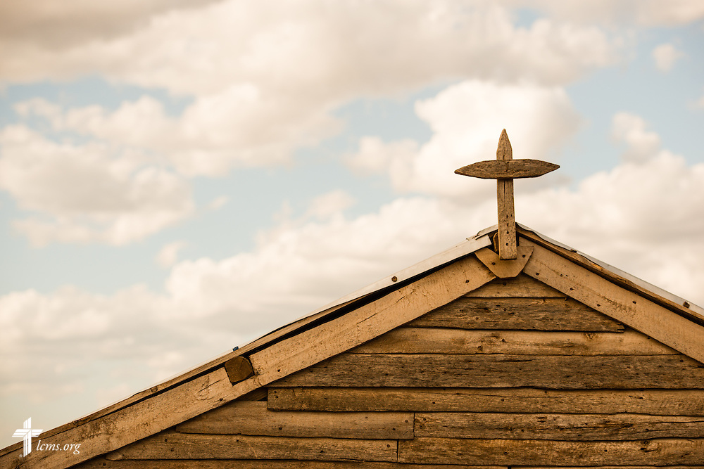 A wooden cross is mounted above a Fiangonana Loterana Malagasy (FLM, Malagasy Lutheran Church) church on Monday, Oct. 20, 2014, near Ambovombe in southern Madagascar. LCMS Communications/Erik M. Lunsford