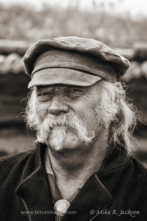 Mountain Man at Historic Fort Bridger's annual rendezvous. Photo taken in Southern Wyoming.