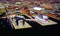 Aerial view of Baltimore Aquarium,  Inner Harbor, Maryland