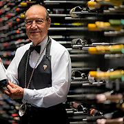 Maitre Sommelier Pedro Poncelis at the wine cellar of The Grand Velas Los Cabos. Photo by: Victor Elias Photography.