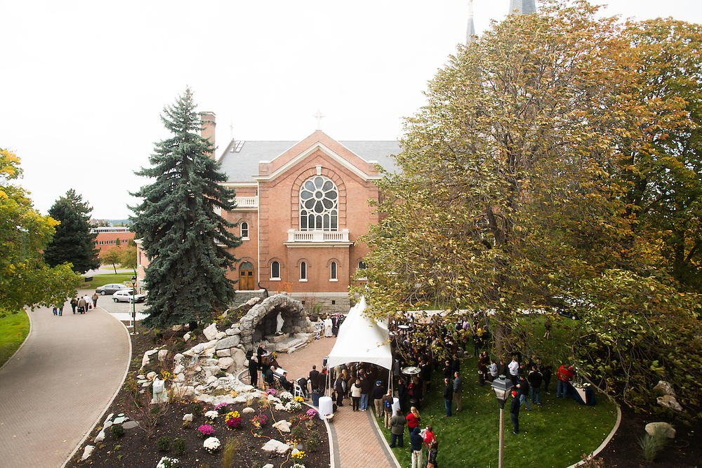 The Grotto was dedicated Oct. 20, 2012, during Zagapalooza.<br />