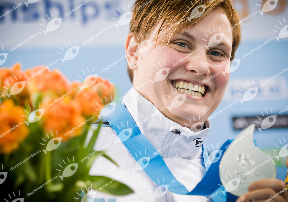 Uschi Freitag (GER) silver medal.Diving European Championships Eindhoven 2012.Women's 3m springboard - final.Eindhoven (Netherlands), 19/05/2012.Diving  .Foto Insidefoto / Giorgio Perottino
