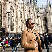 Arrivee au repas d'inauguration de la semaine de la mode a Milan