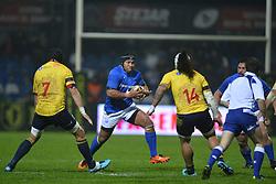 November 18, 2017 - Bucharest, Romania - Samoa's Jack Lam in action during International Friendly  Rugby match at National Stadium ''Arcul de Triumf'', on November 18th 2017, in Bucharest, Romania. (Credit Image: © Alex Nicodim/NurPhoto via ZUMA Press)