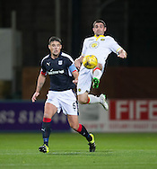 Partick Thistle&rsquo;s Kris Doolan and Dundee&rsquo;s Darren O&rsquo;Dea - Dundee v Partick Thistle in the Ladbrokes Scottish Premiership at Dens Park, Dundee. Photo: David Young<br /> <br />  - &copy; David Young - www.davidyoungphoto.co.uk - email: davidyoungphoto@gmail.com