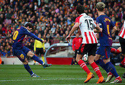 March 18, 2018 - Barcelona, Spain - Leo Messi during the match between FC Barcelona and Athletic Club, played at the Camp Nou Stadium on 18th March 2018 in Barcelona, Spain. (Credit Image: © Joan Valls/NurPhoto via ZUMA Press)